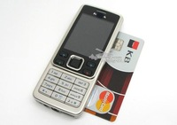 Free Shipping Hot Sale Russian Keyboard One Sim Card Mobile Phone 6300 Silver & Black High Quality Phone