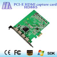 professional On sale PCI-E 4CH HDMI capture card switch HD885
