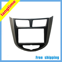Free shipping-Car refitting DVD frame,DVD panel,Dash Kit,Fascia,Radio Frame,Audio frame for 2010 HYUNDAI VERNA,2DIN