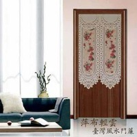 room divider Curtain fabric Japanese screen cut off trade lovely pastoral lace geomantic omen door curtain Camellia150