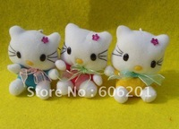 "Cute Plush Hello kitty Keychain,cartoon cell phone strap/hanging ornament,many color(2.36"")-Free shipping"