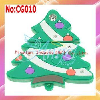 2014 Rushed Sale Stock Green Plastic No Usb 2.0 Wholesale Christmas Gift Usb Drive 1gb Tree Flash Fast Shipping #cg010