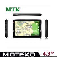 4.3 inch Car GPS Navigation Navigator 128MB Ram Free 4GB memory
