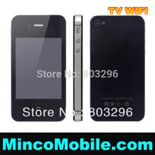 Unlocked GSM Quad Band Dual SIM Card i4 4G F8 WIFI TV JAVA Mobile Phone(China (Mainland))