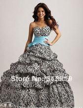 free shipping fashion printed zebra prom dresses 2014 new style hot sale(China (Mainland))