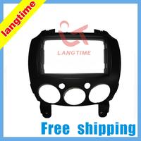 Free shipping-Car refitting DVD frame,DVD panel,Dash Kit,Fascia,Radio Frame,Audio frame for MAZDA M2,2 DIN