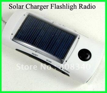 Solar flash light radio charger Freeshipping