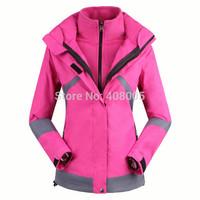2014 Women Outdoor Sporst Jacket Womens Windproof Waterproof Ski Skiing Jackets &Coats for Camping &Hiking Lady Windbreaker