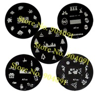 free shipping/Nail Printer,Round Stainless Steel Image Plate Nail Art Stamping Plate Wholesales.140 designs.