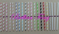 1000pcs Free shipping Mixed 74 color Polka Dot Stripe Paper Straws,Party Supplies Drinking Paper Straws