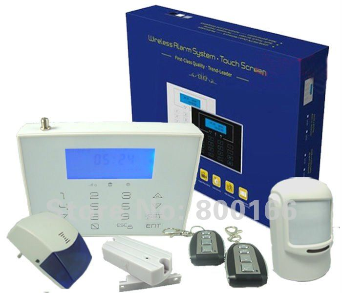 Largest GSM Alarm Panel Wireless Auto Dial Home Security Alarm System With 868Mhz KI-G8088W(China (Mainland))