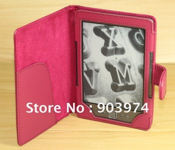 Colorful Kindle 4 Case , New Leather Pouch Case Cover For AMAZON Kindle 4 4TH Free Shipping