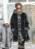 (CD-052)free shipping women's Faux fur long garment/Double Face/lady's fur jacket/imitate rex rabbbit fur coat/Reversible wear