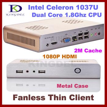 Fanless Thin Client PC, Mini Computer with Intel Atom N270 1.60Ghz, 1GB RAM, 16GB SSD, WIFI, Full Screen Video