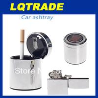 Car ashtrays, safety concise flame retardant, LED lamp solar ashtray