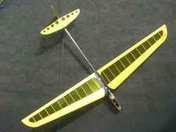 Standard Mini DLG glider yellow Balsa Radio controlled RC model airplane 2 servos pre-assembled removable fuselage head(China (Mainland))