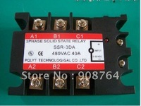 SSR001# Power Module  3 phase Solid-state relay  SSR-3DA 100A   JG3-3 100A(100A,480V) with Heat sink