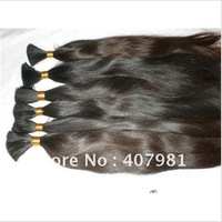 "Top Quantity Virgin Brazilian Human Hair Bulk About  100g 12"" 14"" 16"" 18 Inch Natural Color"