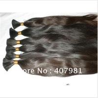 "Top Quantity Virgin Brazilian Human Hair Bulk About  100g 12"" 14"" 16"" 18 Inch Natural Color"