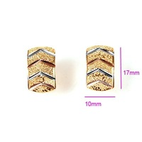 Free Shipping!!! Wholesale Quality Women&amp;#39;s 18K Yellow Gold &amp;amp; Platinum Plated Stud Earrings, Factory Price! (111028-10)