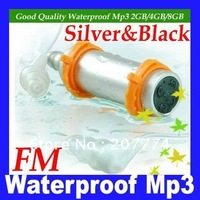 Free Shipping 4GB Waterproof Mp3 Player With FM Radio 1pcs/lot