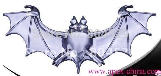 super quality--Car 3D Chrome Badge Emblem Sticker,Silver Bat batman,spider metal decals(China (Mainland))
