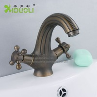 Xiduoli Wholesale And Retail Free shipping Antique Brushed Cross Dual Handle Wash Basin Tap XDL-1209 toilet sink