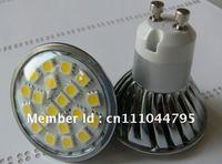 Wholesale Freeshipping LED Spotlight 20SMD 5050 LED Lamp GU10 Base Warm Cool White With Cover High Brightness 20PCS/Lot Hot Sale