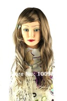 Free Shipping 1pc Brown 22inch Long Straight Fashion Ladies' Synthetic Wig HW0007