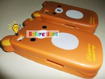Free Shipping/New cartoon bear bread squishy Mobile phone case for iphone/Rilakkuma Mobile bag/sets/Fashion Style/Wholesale