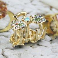 Free Shiping 10pcs/lot Fashion Rhinestone Butterfly Hiar Clip Hairpin  for Women HC0210