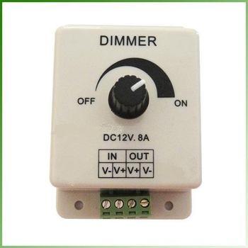 10pcs/lot DC 12V 8A LED Light Dimmer Adjustable Bright Controller