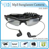 Mini DV DVR Sun glasses Camera Audio Video Recorder, hidden sunglasses camera With Mp3 Function Wireless MP3 Sunglasses Camera