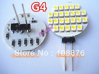 4 x G4 24SMD led bulb, Car reading lights, Chandelier bulbs,  DC/AC12V 1.5W spotlights, free shipping