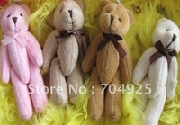 40PCS Joint TED Bear 11CM TED Teddy Bear Plush Stuffed TOY , BAG Charm Chain Pendant Key Chain Ring Pendant