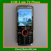 5130 TV Unlocked GSM 3 Sim 5130 mobile phone fast shipping