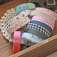 Freeshipping!Wholesale,New Fashion cotton printing Tape/Decorative Sticker DIY Tape/Office Adhesive Tape 100pcs/lot