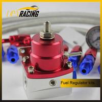 Hight quality universal ufuel pressure regulator kits with an6 hose