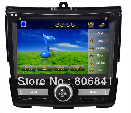 6.2 inch Car DVD player GPS for Honda City (new) Blutooth Digital Touchscreen SD/USB ATV RDS IPOD 4G sd Map(China (Mainland))