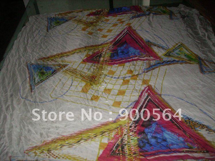 silk Chiffon+Customize your design fabric + 5yards MOQ +ciba dyestuff production j0073-1(China (Mainland))