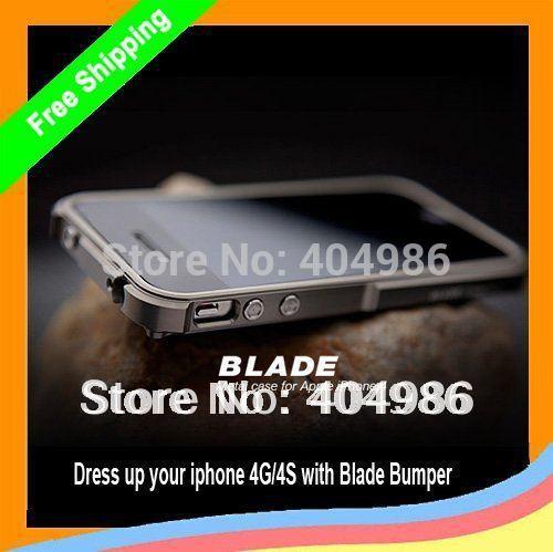 1pcs Blade Aluminum Bumper Frame Case Cover For iPhone 4G 4s, For iphone 4s Blade Bumper, Free Shipping(China (Mainland))