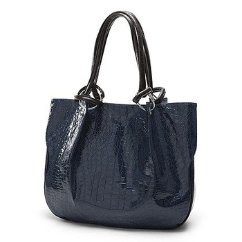 Maymay PU Leather crocodilian Handbag tote lady's bag