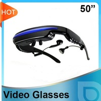 50inch 4GB MP4 Video Glasses, play videos, music, pictures, E-book anytime you want. free shipping