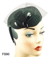 Free shipping, Vintage Millinery,2012  Fashion Hair Accessories, Royal Hat Fascinator Mini Top Hat