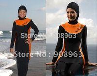 2014 Modest islamic swimsuits islamic swimwear muslim swimwear; 4sets/lot free shipping