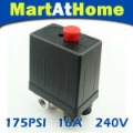 New  4 Ports Air Compressor Pressure Switch Control Valve 175PSI 16A CE #BV139 @CF