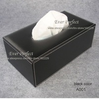 Sterling rectangular PU leather facial tissue box  tissue cover napkin box table decoration A001