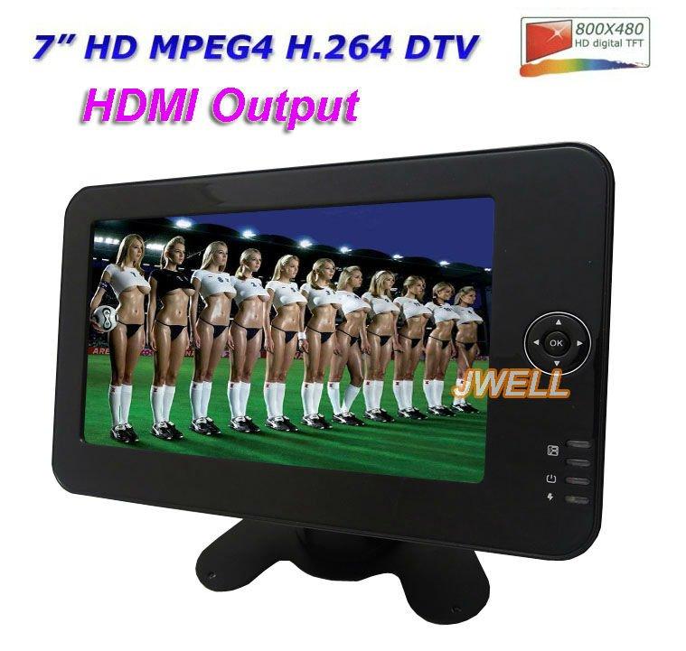 TV 7 inch, LCD digital MPEG4 DVB-t H.264 with HDMI, PVR, USB, Battery, Touch screen(Hong Kong)