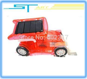 72pcs Wholesales - Newest!! DIY toy Solar bulldozer environmental toys project car educational enjoyable with Free Solar ba 2014