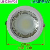 LED 12W downlight equal to 120W ceiling lamp high quality recessed bulb white cover down light two years warranty